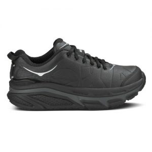 Hoka Black Leather Valor Womens